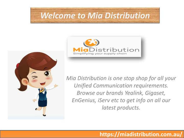welcome to mia distribution n.