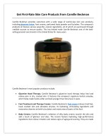 get first rate skin care products from camille