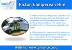 picton campervan hire