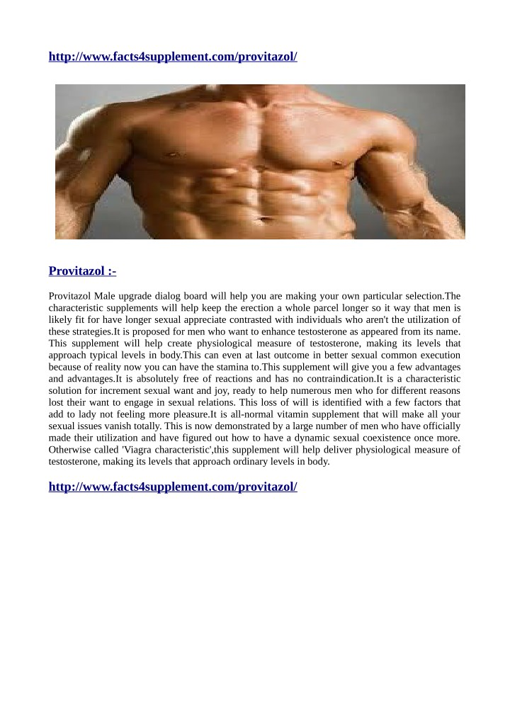 http www facts4supplement com provitazol n.