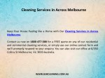 cleaning services in across melbourne 1