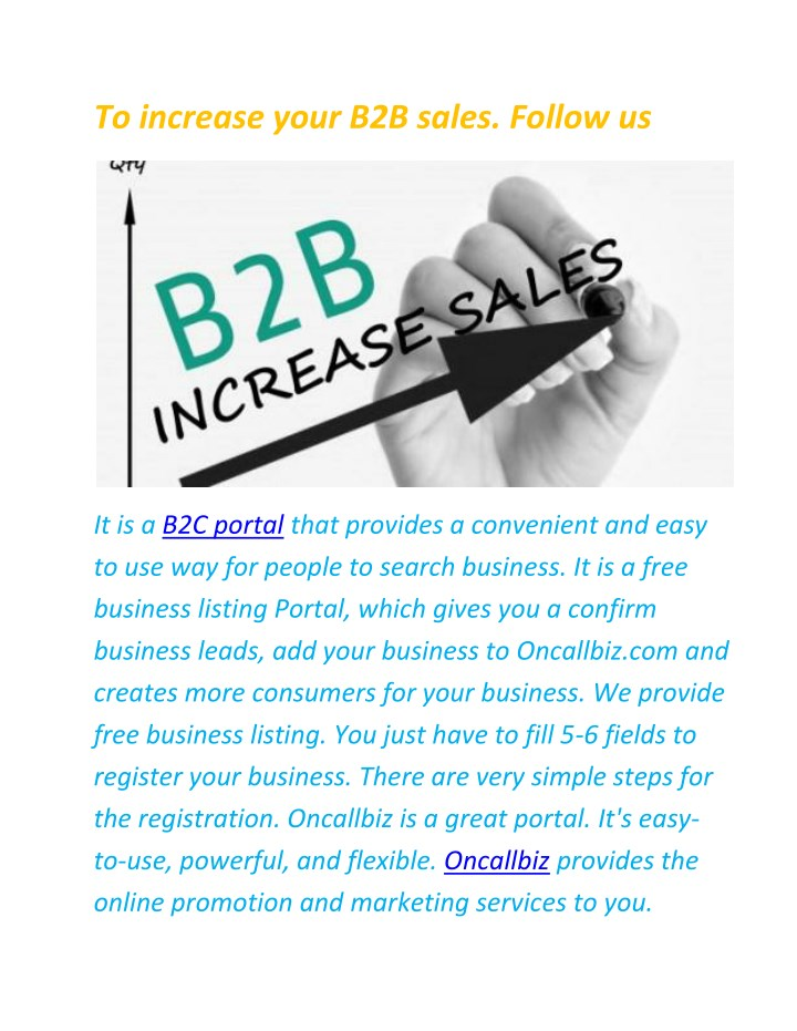 to increase your b2b sales follow us n.