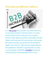 to increase your b2b sales follow us