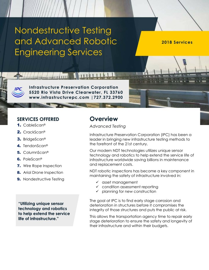 nondestructive testing and advanced robotic n.