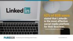 62 of b2b users stated that linkedin is the most