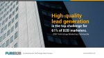 high quality lead generation is the top challenge