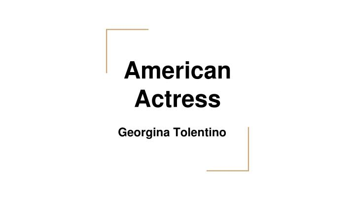 american actress n.