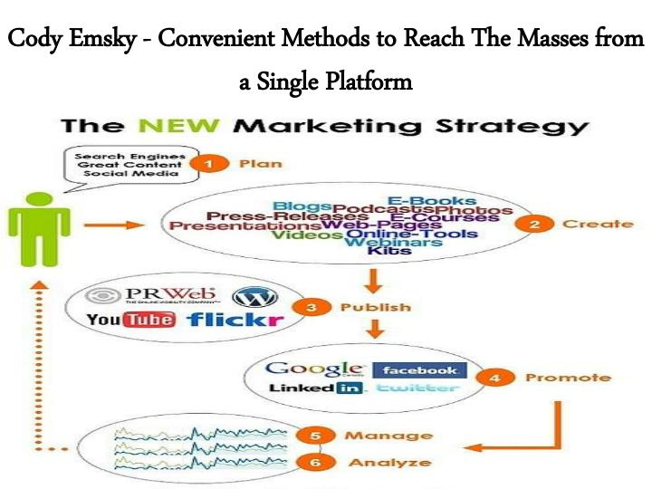 cody emsky convenient methods to reach the masses from a single platform n.