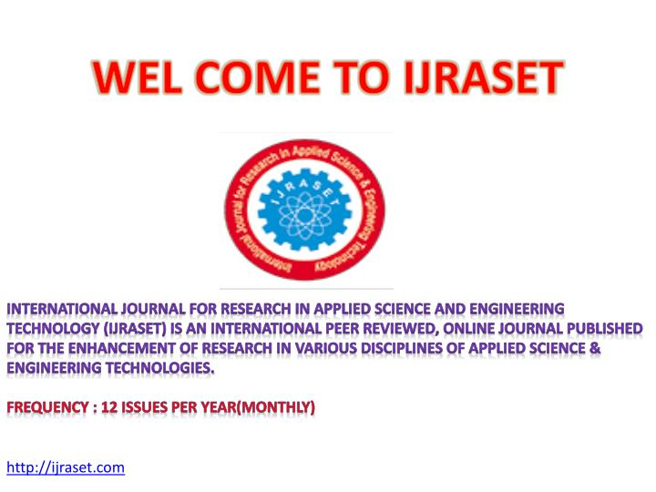 wel come to ijraset n.