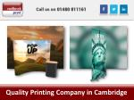 quality printing company in cambridge