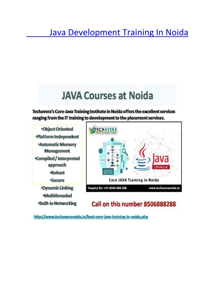 java development training in noida n.