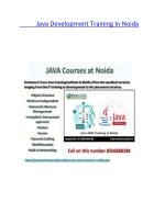 java development training in noida