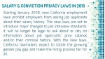 salary conviction privacy laws in 2018 starting
