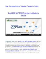 sap successfactors training center in noida