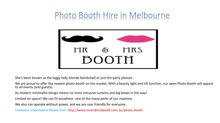 photo booth hire in melbourne n.