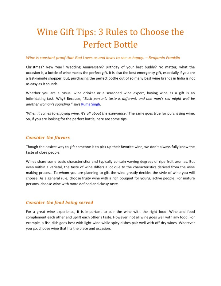 wine gift tips 3 rules to choose the perfect n.