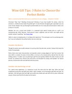 wine gift tips 3 rules to choose the perfect