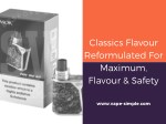 classics flavour reformulated for maximum flavour