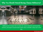 why you should attend boxing classes melbourne