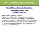mat 510 rank successful learning 8