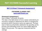 mat 510 rank successful learning 9
