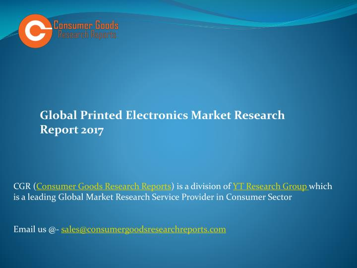 global printed electronics market research report n.