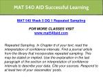 mat 540 aid successful learning 28