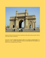 gateway of india is the monument that can provide