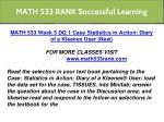 math 533 rank successful learning 14