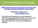 math 533 rank successful learning 21
