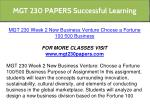 mgt 230 papers successful learning 12