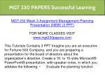 mgt 230 papers successful learning 13