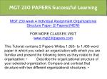 mgt 230 papers successful learning 21