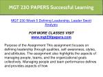 mgt 230 papers successful learning 24