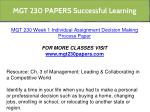 mgt 230 papers successful learning 5