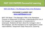 mgt 230 papers successful learning 6