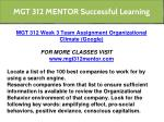 mgt 312 mentor successful learning 6
