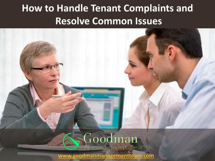 how to handle tenant complaints and resolve common issues n.