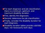 for each diagnosis and job classification there