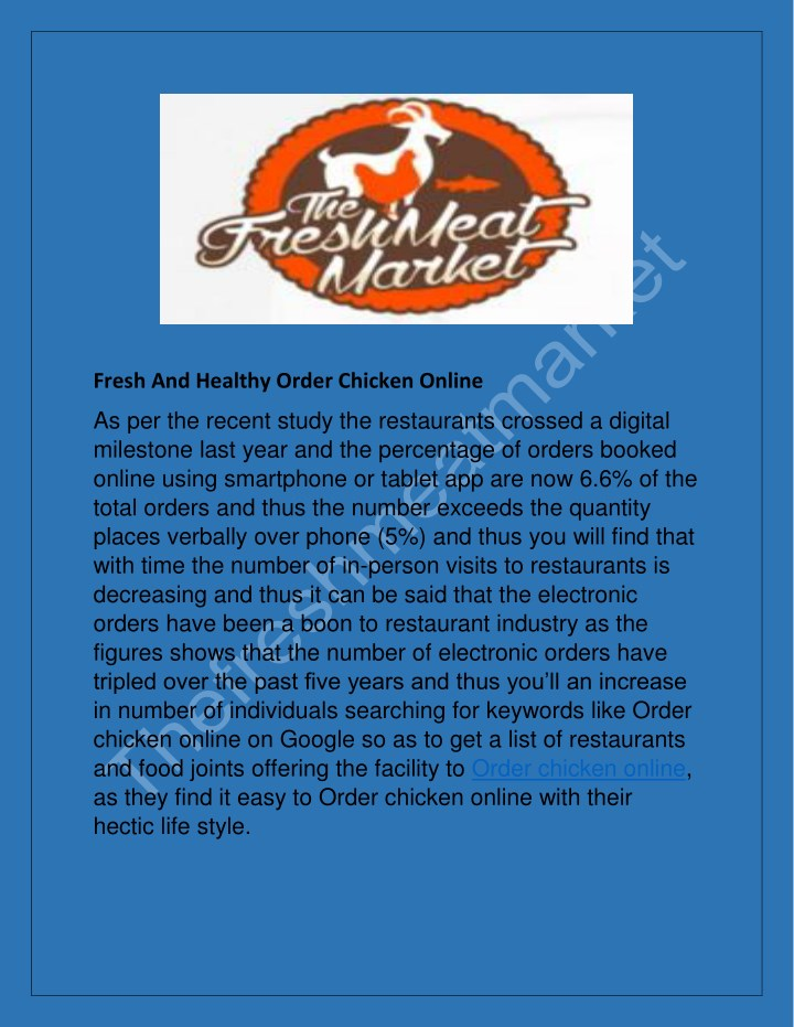fresh and healthy order chicken online n.