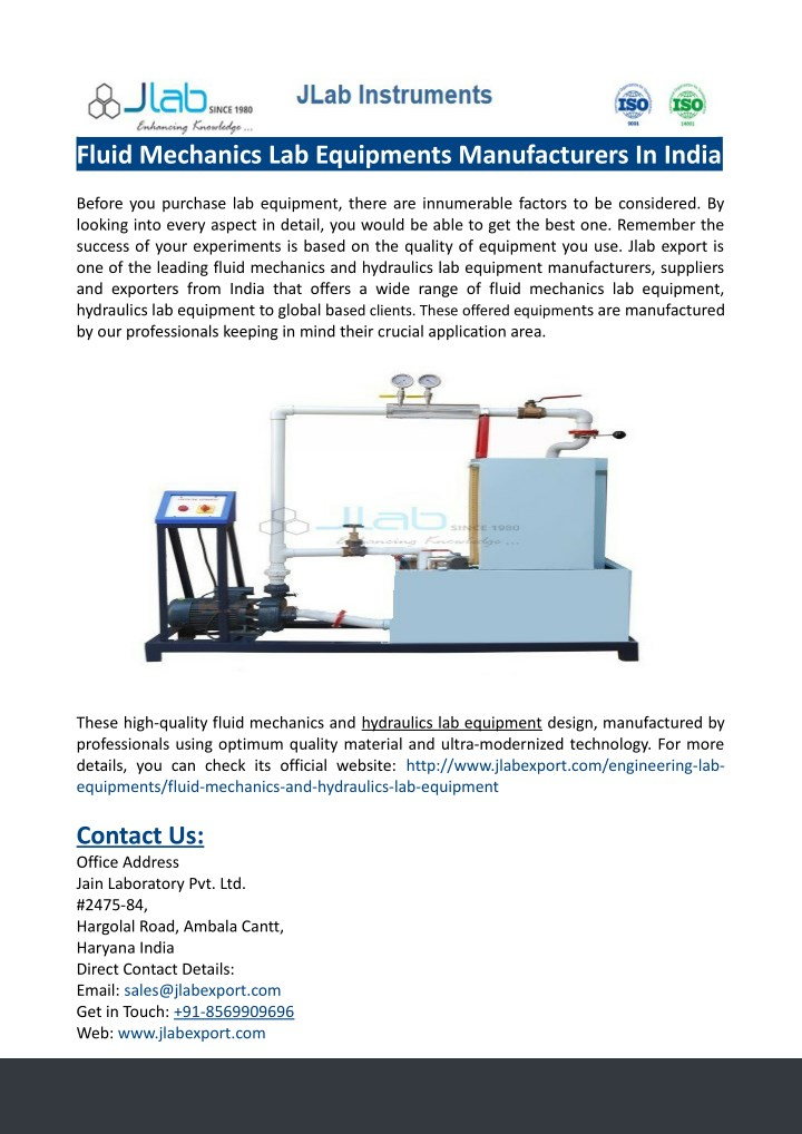 fluid mechanics lab equipments manufacturers n.