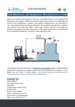 fluid mechanics lab equipments manufacturers