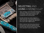 when choosing a money clip go for something that