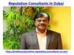 reputation consultants in dubai 2