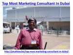 top most marketing consultant in dubai 2