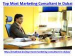 top most marketing consultant in dubai