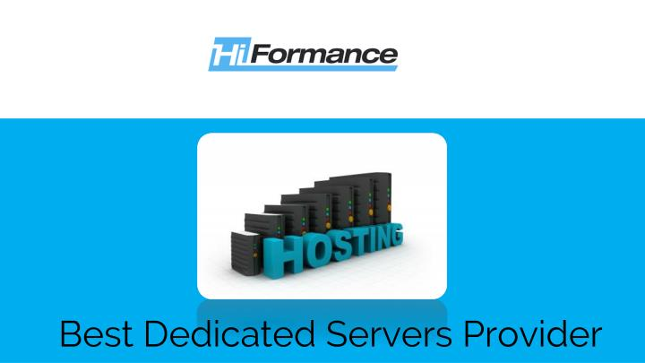 best dedicated servers provider n.