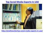 t op social media experts in uae