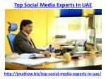 top social media experts in uae