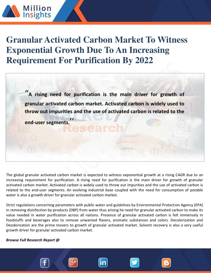 granular activated carbon market to witness n.